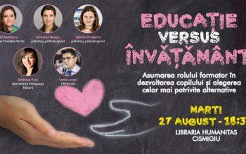 Educație versus Învățământ – Comunicat