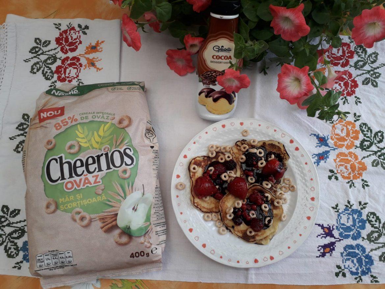 Mini-clătite cu cereale Cheerios Ovăz